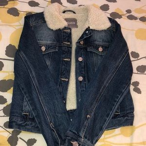 Vici wool lined denim jacket